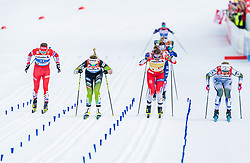 24.02.2019, Langlauf Arena, Seefeld, AUT, FIS Weltmeisterschaften Ski Nordisch, Seefeld 2019, Langlauf, Damen, Teambewerb, im Bild v.l. Yulia Belorukova (RUS), Anamarija Lampic (SLO), Maiken Caspersen Falla (NOR), Maja Dahlqvist (SWE) // f.l. Yulia Belorukova of Russian Federation Anamarija Lampic of Slovenia Maiken Caspersen Falla of Norway Maja Dahlqvist of Sweden during the ladie's cross country team competition of FIS Nordic Ski World Championships 2019 at the Langlauf Arena in Seefeld, Austria on 2019/02/24. EXPA Pictures © 2019, PhotoCredit: EXPA/ Stefan Adelsberger