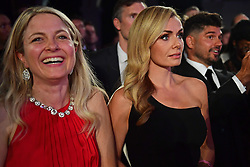 Katherine Jenkins watch the boxing at the Boodles Boxing Ball, in association with Argentex and YouTube in Support of Hope and Homes for Children at Old Billingsgate London, United Kingdom - 7 Jun 2019 Photo Dominic O'Neil