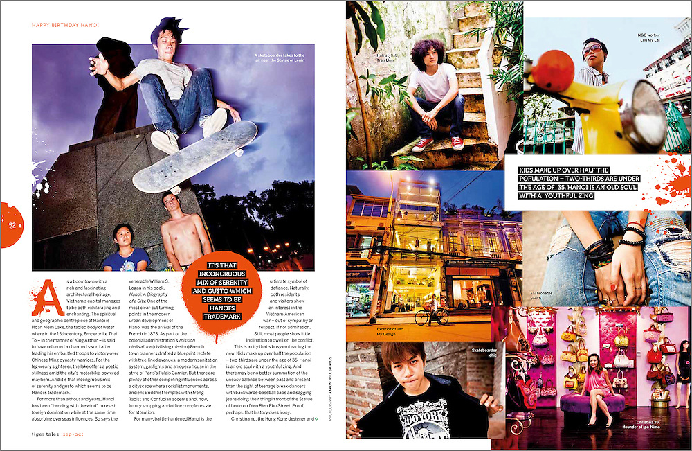A feature travel story on Hanoi, Vietnam during its 1000-year anniversary.