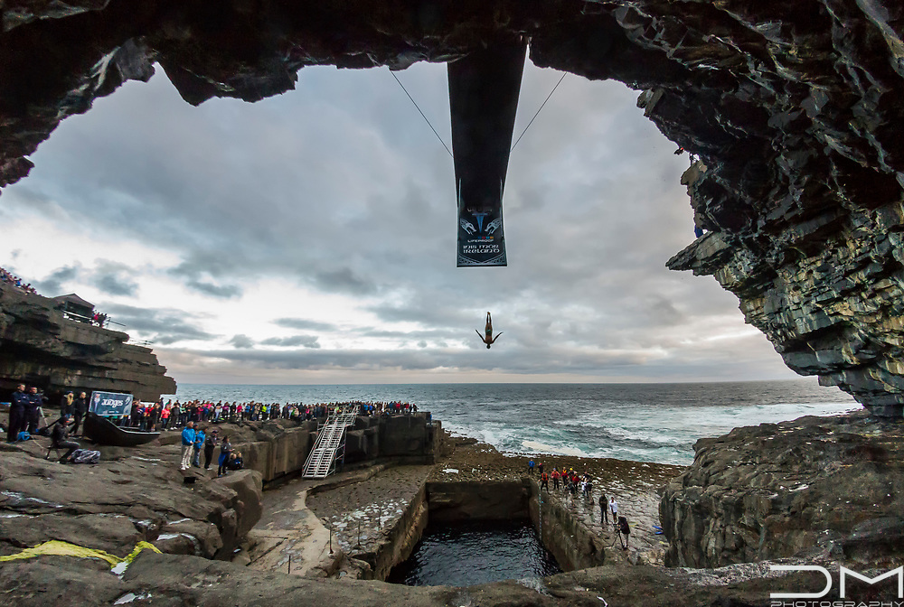 Cliff Diving in Inis Mor, Ireland