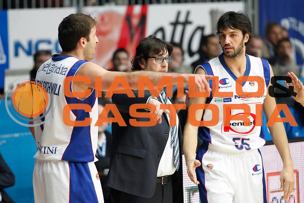 DESCRIZIONE : Cantu Campionato Lega A 2011-12 Bennet Cantu Umana Venezia<br /> GIOCATORE : Andrea Trinchieri Gianluca Basile Manuchar Markoishvili<br /> CATEGORIA : Ritratto<br /> SQUADRA : Bennet Cantu<br /> EVENTO : Campionato Lega A 2011-2012<br /> GARA : Bennet Cantu Umana Venezia<br /> DATA : 05/02/2012<br /> SPORT : Pallacanestro<br /> AUTORE : Agenzia Ciamillo-Castoria/G.Cottini<br /> Galleria : Lega Basket A 2011-2012<br /> Fotonotizia : Cantu Campionato Lega A 2011-12 Bennet Cantu Umana Venezia<br /> Predefinita :