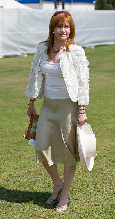 Windsor Great Park, 27th July  Stefanie Powers at   Smith Lawns, Cartier International Polo at the Guards Polo club