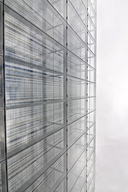 aqua Center steel reaches into the Oregon sky.