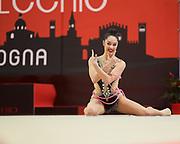 Alexandra Agiurgiuculese from Udinese team during the Italian Rhythmic Gymnastics Championship in Bologna, 9 February 2019.