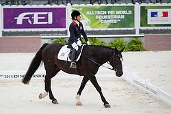 Timothy Tsang, (HKG), Shadow - Individual Test Grade II Para Dressage - Alltech FEI World Equestrian Games™ 2014 - Normandy, France.<br /> © Hippo Foto Team - Jon Stroud <br /> 25/06/14