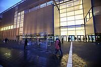Mannheim. 15.12.17  <br /> Kunsthalle. Neubau. Nachtaufnahmen von Aussen mit der Mesh-Fassade. Er&ouml;ffnung<br /> <br /> Bild-ID 020   Markus Pro&szlig;witz 15DEC17 / masterpress