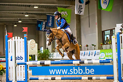 Van Hollebeke Julie, BEL, Mini Hoops<br /> Nationaal Indoor Kampioenschap Pony's LRV <br /> Oud Heverlee 2019<br /> © Hippo Foto - Dirk Caremans<br /> 09/03/2019