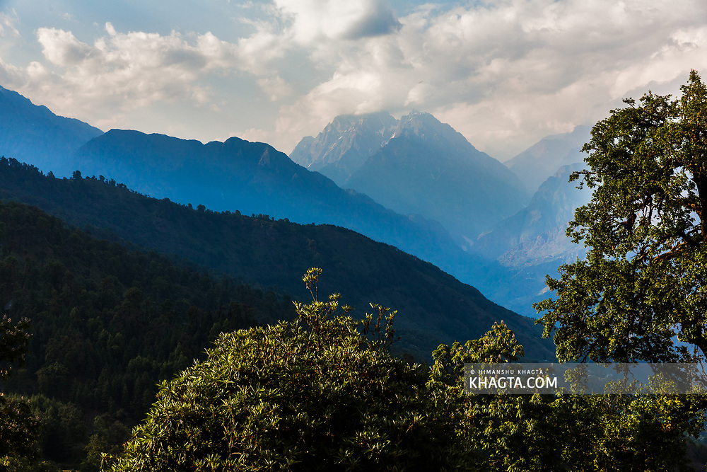Himalayas at Munsiyari in Kumaon region of Uttarakhand, India