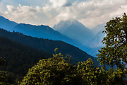 Himalayas at Munsiyari in Kumaon region of Uttarakhand, India