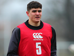 James Scott of England Under 20s - Mandatory by-line: Robbie Stephenson/JMP - 09/01/2018 - RUGBY - England U20 - Training session ahead of Six Nations