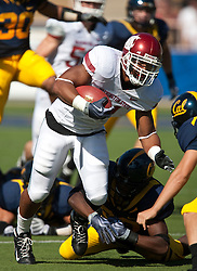 October 24, 2009; Berkeley, CA, USA;  Washington State Cougars running back Dwight Tardy (31) returns a kick off during the first quarter against the California Golden Bears at Memorial Stadium.