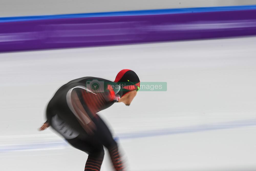 February 23, 2018 - Pyeongchang, Gangwon, South Korea - Yang Tao of China 1000 meter speedskating at winter olympics, Gangneung South Korea on February 23, 2018. (Credit Image: © Ulrik Pedersen/NurPhoto via ZUMA Press)