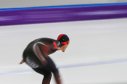 February 23, 2018 - Pyeongchang, Gangwon, South Korea - Yang Tao of  China 1000 meter speedskating at winter olympics, Gangneung South Korea on February 23, 2018. (Credit Image: © Ulrik Pedersen/NurPhoto via ZUMA Press)