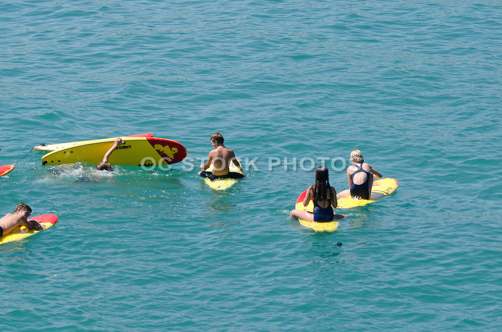 Future Lifeguards On Surfboards Training