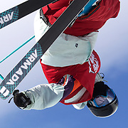 Gus Kenworthy, USA,  in action in the Men's Halfpipe Finals during The North Face Freeski Open at Snow Park, Wanaka, New Zealand, 3rd September 2011. Photo Tim Clayton...