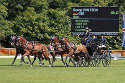 VON STEIN Georg (GER)<br /> Donaueschingen - CHI mit Europameisterschaft Gespannfahren 2019<br /> Dressage Four-in-hand horses Driving European Championship<br /> Vierspänner Dressur<br /> 16. August 2019<br /> © www.sportfotos-lafrentz.de/Roger Müller