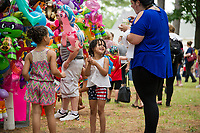 Happy faces in the crowd at Tilton-Northfield's Old Home Day festivities Saturday.  (Karen Bobotas/for the Laconia Daily Sun)