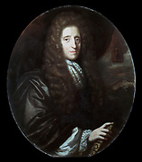 John Locke (1632-1704) English philosopher. Author of 'Essay Concerning Human Understanding' (1690).  Oil on Canvas:  Herman Verelst 1689.