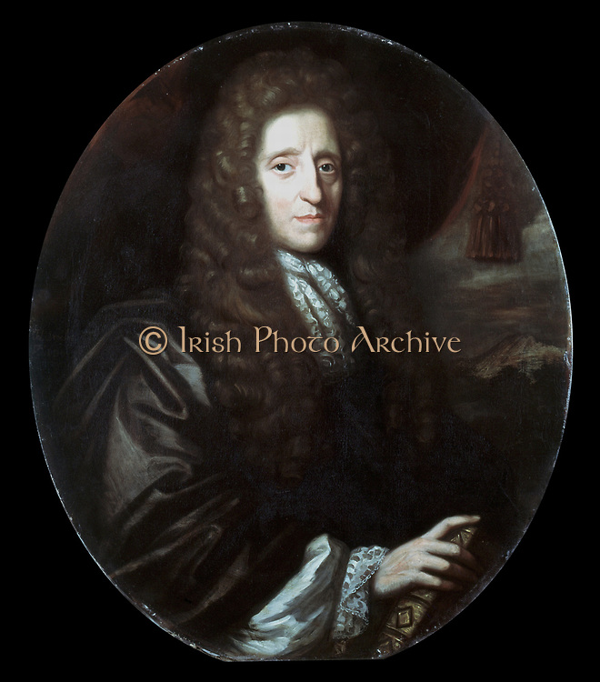 John Locke (1632-1704) English philosopher. Author of 'Essay Concerning Human Understanding' (1690).  Oil on Canvas:  Herman Verelst 1689.