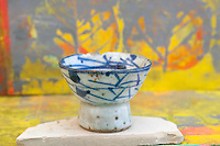 Still Life Photography of an antique japanese tea bowl.