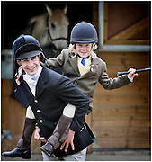 Grand national-winning jockey and former Galashiels Braw Lad, Ryan Mania gives riding tips to Fraser Cason (7) ahead of Saturday's Galashiels Braw Lads Gathering, one of the Borders' Return to the Ridings Festivals. The pair will take part in the long standing tradition which sees hundreds of horses gather on a ride to mark the town's boundaries.