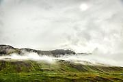 Iceland fog and sun