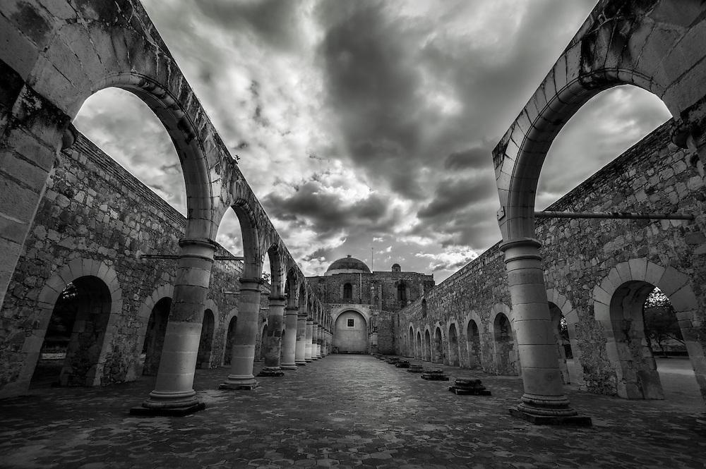 Cuilapan de Guerrero Santiago Apóstol Dominican Monastery Church And Archaeological Ruins Oaxaca Mexico.