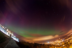 The Northern Lights, Aurora Borealis, as seen tonight from the esplanade at Stirling Castle, just before 10pm. Picture taken with a 120 second exposure.