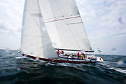 12 Meter Class American Eagle racing in the Nantucket 12 Meter Regatta.