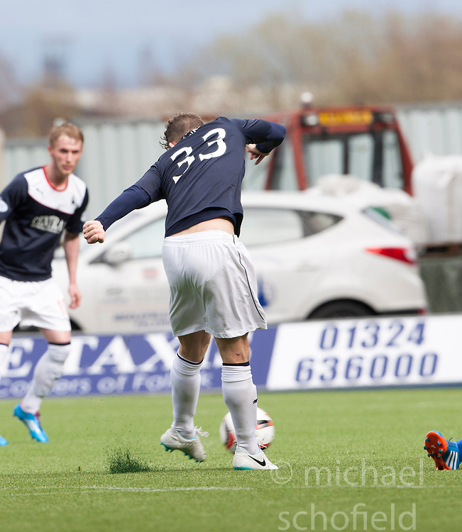 Falkirk's Rory Loy scoring their fifth goal and his hat trick.<br /> Falkirk 5 v 0 Cowdenbeath, Scottish Championship game played today at The Falkirk Stadium.<br /> &copy; Michael Schofield.
