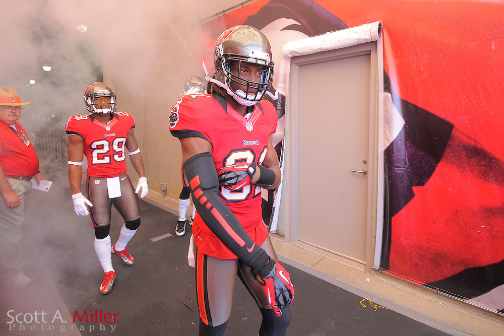 Tampa Bay Buccaneers cornerback E.J. Biggers (31) in the tunnel prior to an NFL game against the Atlanta Falcons at Raymond James on November 25, 2012 in Tampa, Florida. ...©2012 Scott A. Miller..