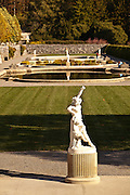 View of the Italian Gardens at the Biltmore Estate privately owned by the Vanderbilt family in Asheville, NC. The house is the largest private home in America with over 250 rooms.
