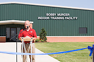 September 23, 2011: The Bobby Murcer Indoor Facility on the campus of Oklahoma Christian University is officially dedicated.