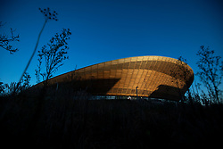 General view of the VeloPark during day three of the Tissot UCI Track Cycling World Cup at Lee Valley VeloPark, London.