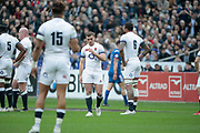 George Ford (ENG) desappointed, Courtney Lawes (ENG), Anthony Watson (ENG), Dan Cole (ENG) during the NatWest 6 Nations 2018 rugby union match between France and England on March 10, 2018 at Stade de France in Saint-Denis, France - Photo Stephane Allaman / ProSportsImages / DPPI