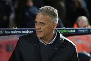 Keith Curle   during the EFL Sky Bet League 2 match between Cheltenham Town and Northampton Town at Jonny Rocks Stadium, Cheltenham, England on 25 February 2020.