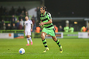 Forest Green Rovers Darren Carter(12) runs forward during the Vanarama National League match between Forest Green Rovers and Tranmere Rovers at the New Lawn, Forest Green, United Kingdom on 22 November 2016. Photo by Shane Healey.