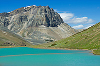 Mount Tekarra and glacial Centre Lake, Jasper National Park Alberta Canada