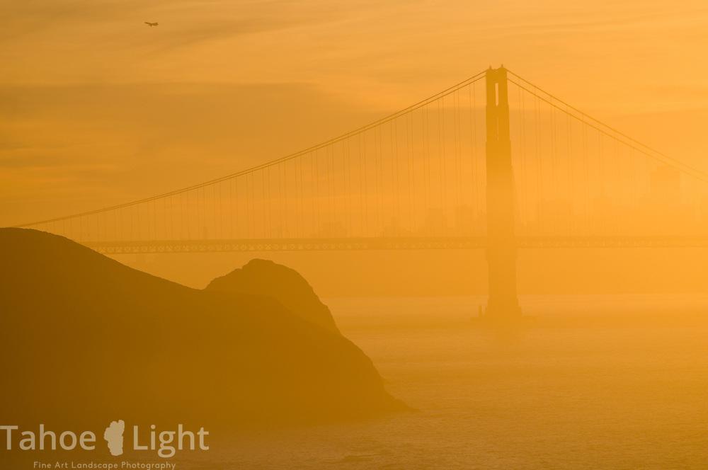 Golden Gate Bridge and Marin Headlands in San Francisco, CA