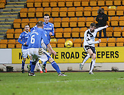 Dundee&rsquo;s Rory Loy fires in a cross - St Johnstone v Dundee, Ladbrokes Scottish Premiership at McDiarmid Park<br /> <br />  - &copy; David Young - www.davidyoungphoto.co.uk - email: davidyoungphoto@gmail.com