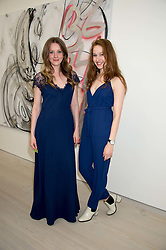Left to right,  actress ZOE RICHARDS actress LOTTIE TOLHURST at the opening of the exhibition Champagne Life in celebration of 30 years of The Saatchi Gallery, held on 12th January 2016 at The Saatchi Gallery, Duke Of York's HQ, King's Rd, London.