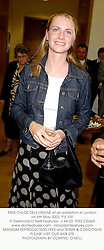 MISS CHLOE DELEVINGNE at an exhibition in London on 6th May 2003.PJI 100