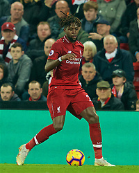 LIVERPOOL, ENGLAND - Wednesday, February 27, 2019: Liverpool's Divock Origi during the FA Premier League match between Liverpool FC and Watford FC at Anfield. (Pic by Paul Greenwood/Propaganda)