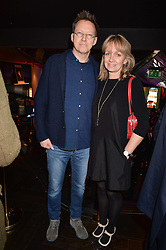 Simon Mayo and his wife at the Costa Book of The Year Awards held at Quaglino's, 16 Bury Street, London England. 31 January 2017.