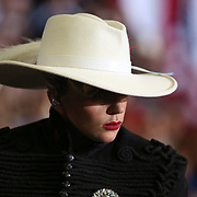 Raleigh, NC - November 7,  2016: Lady Gaga performs inside the Reynolds Coliseum on the campus of North Carolina State for the final campaign stop of the Clinton campaign before election day. CREDIT: LOGAN R CYRUS