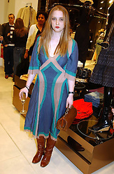DAISY DE VILLENEUVE at a party to celebrate the opening of the new H&M Flagship Store at 17-21 Brompton Road, London SW3 on 23rd March 2005.<br /><br />NON EXCLUSIVE - WORLD RIGHTS