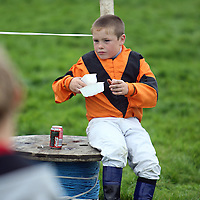 Michael Bradey enjoys a bite to eat at the annual Lisdoonvarna Races at the weekend.<br />