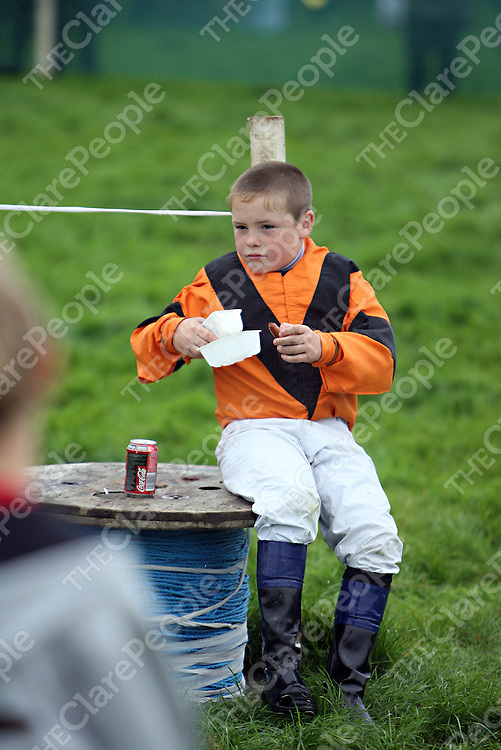 Michael Bradey enjoys a bite to eat at the annual Lisdoonvarna Races at the weekend.<br /><br />Photograph by Yvonne Vaughan.