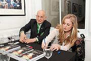 NAIM ATTALAH; HOLLIE KIERNAN, Book launch for Isabella Blow- A Life in Fashion. Book by Lauren Goldstein Crowe. Henrietta St. London. 23 February 2011. -DO NOT ARCHIVE-© Copyright Photograph by Dafydd Jones. 248 Clapham Rd. London SW9 0PZ. Tel 0207 820 0771. www.dafjones.com.