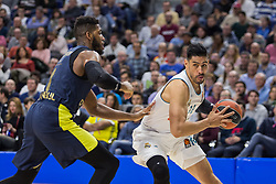 March 2, 2018 - Madrid, Madrid, Spain - Jason Thompson (L) and Gustavo Ayón (R) during Fenerbahce Dogus Istanbul victory over Real Madrid (83 - 86) in Turkish Airlines Euroleague regular season game (round 24) celebrated at Wizink Center in Madrid (Spain). March 2nd 2018. (Credit Image: © Juan Carlos Garcia Mate/Pacific Press via ZUMA Wire)